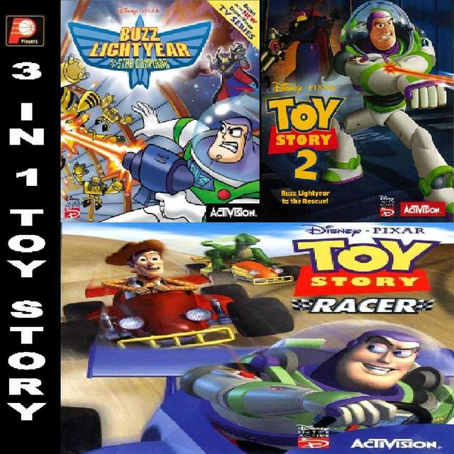 in 1 Toy Story (Buzz Lightyear, Toy Story 2, Toy Story Racer)