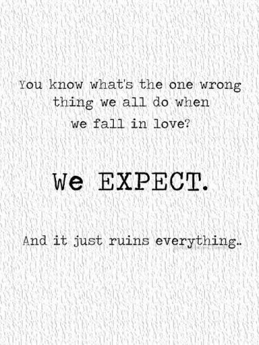 Love and Expectation Quotes
