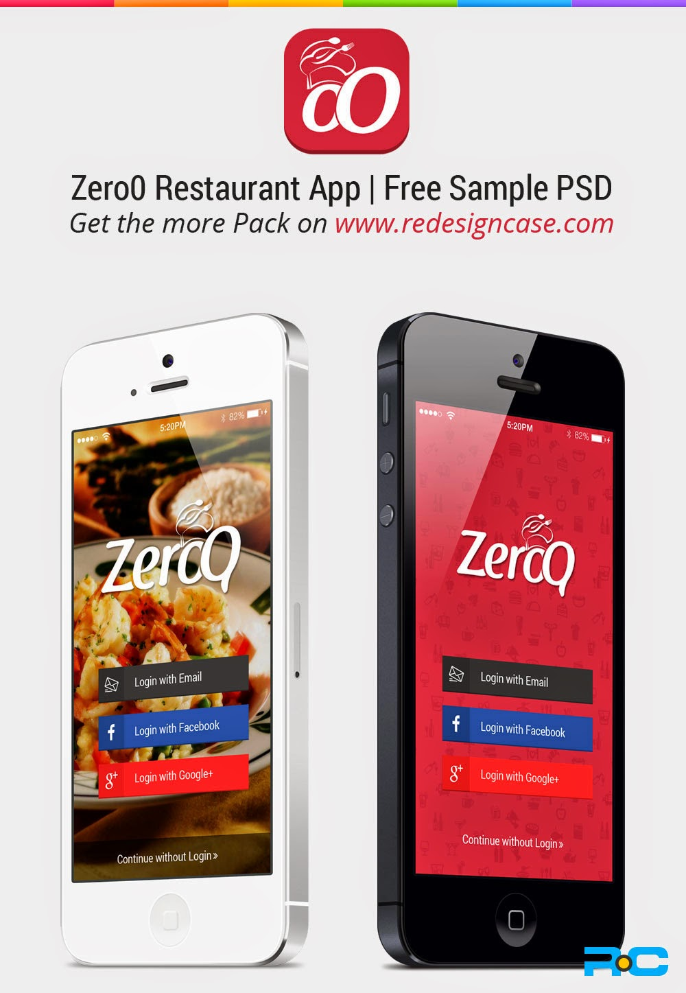 Clean Restaurant App PSD