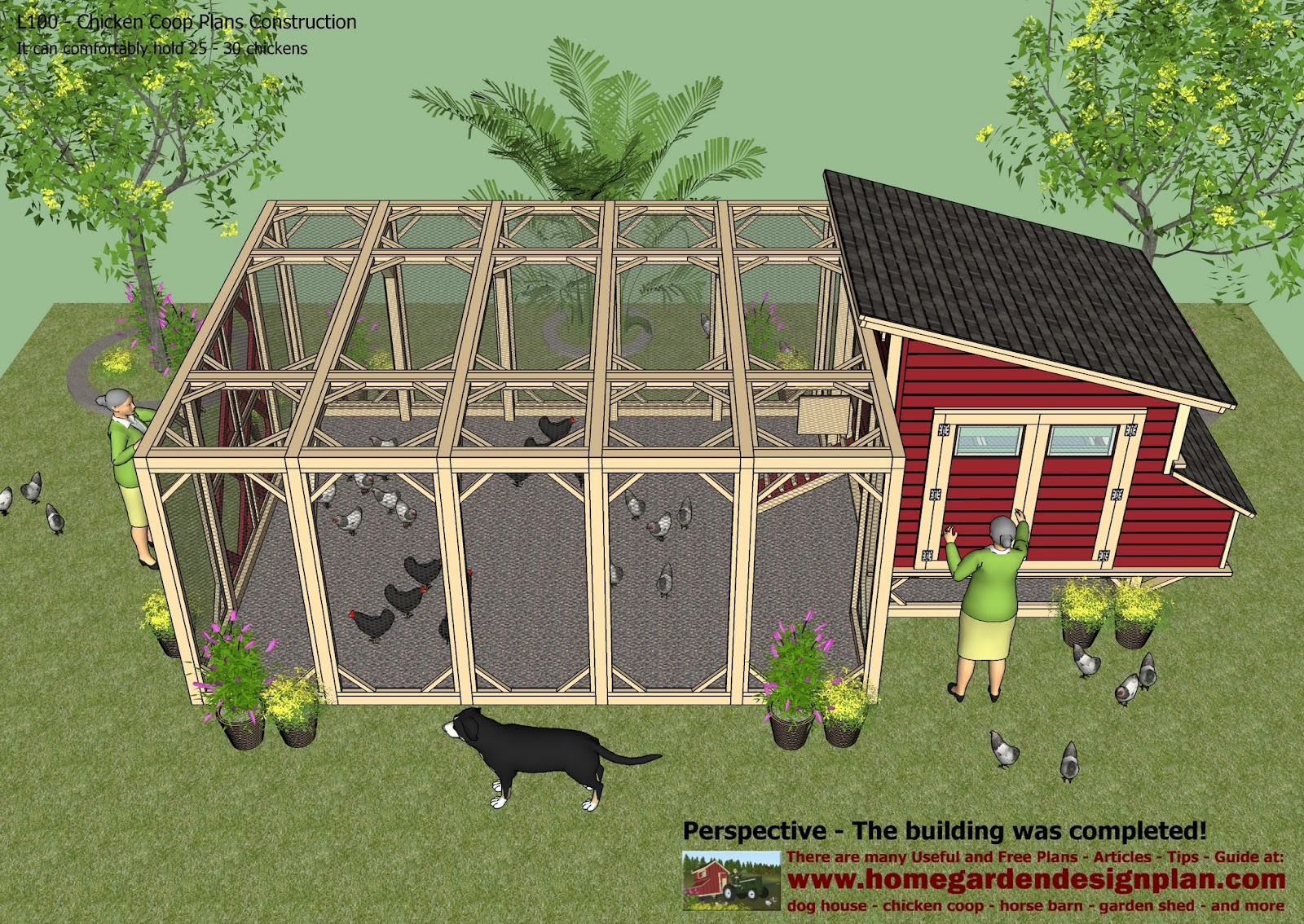 Home garden plans l100 chicken coop plans construction for How to build a chicken hutch