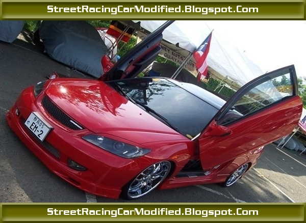 Best Sports Car Custom Red Honda Civic With Lamborghini Doors