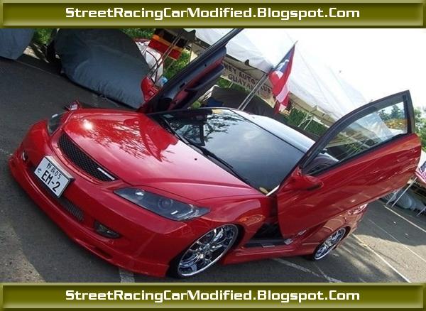 Best Sports Car Custom Red Honda Civic With Lamborghini Doors Racing Sportscar