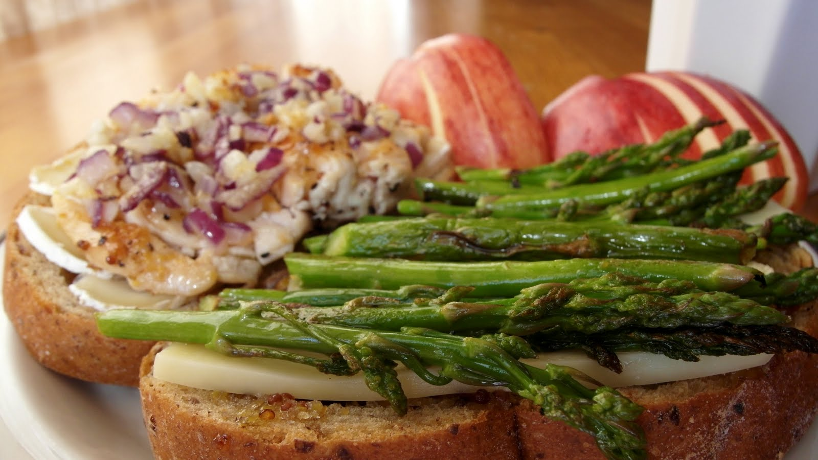 Glorious Sandwiches: asparagus and turkey breast grilled cheese