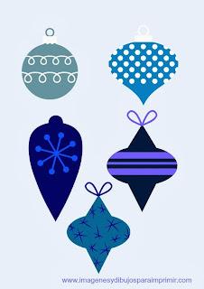 bolas de navidad de color azul