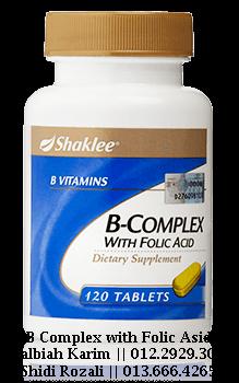 b complex shaklee untuk wanita menopause