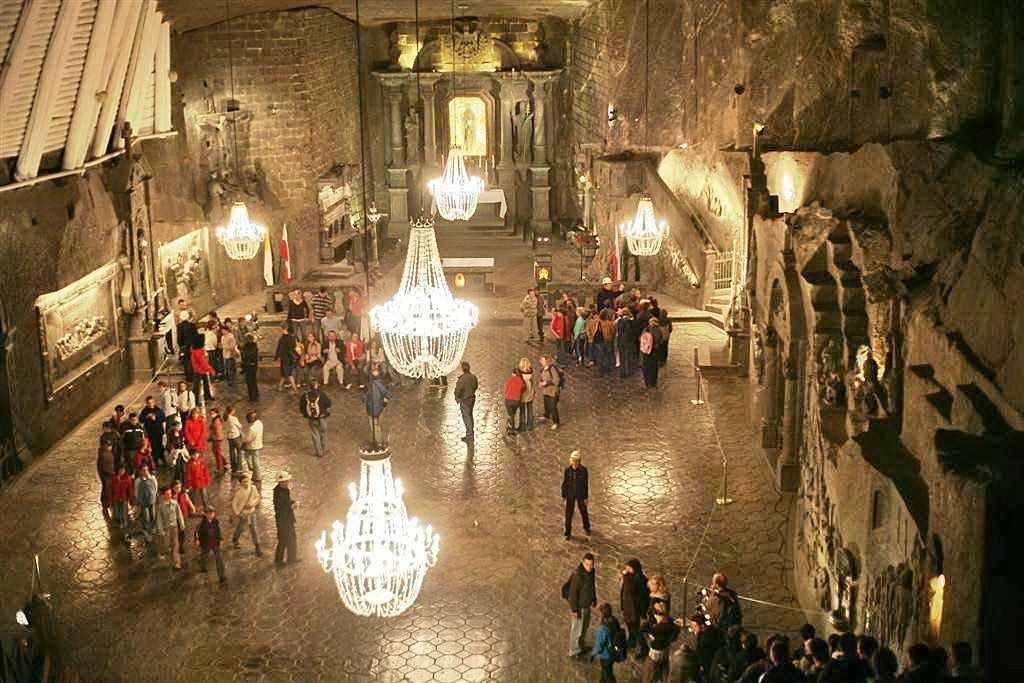 Capela de Santa Cunegunda na mina de sal de Wieliczka