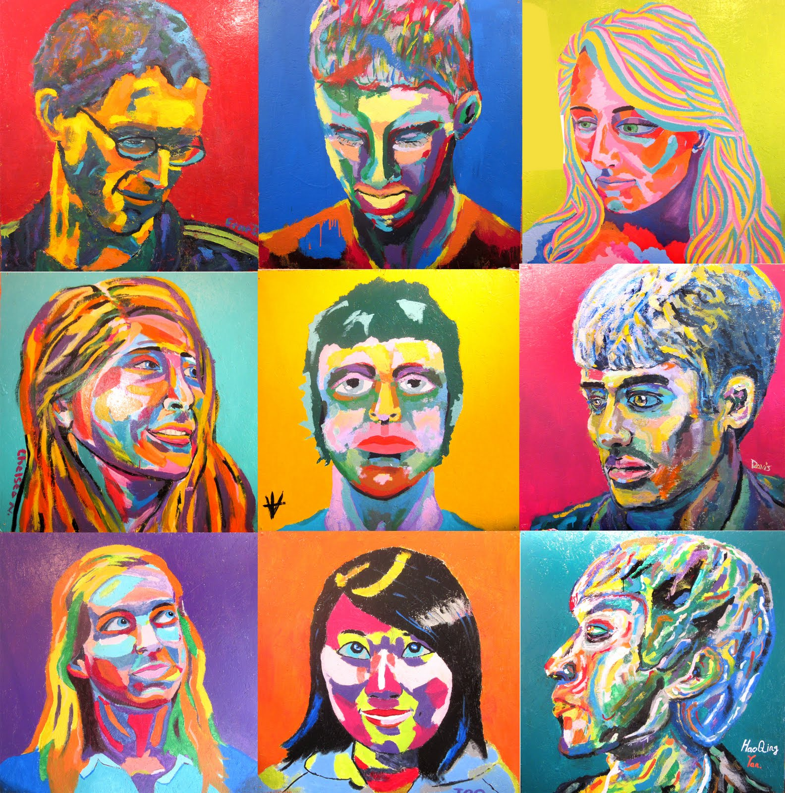the shady bunch my drawing and painting honors class self portrait
