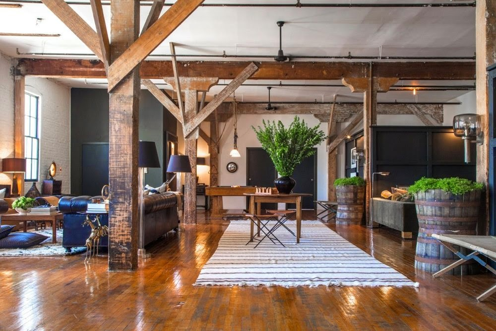 die wohngalerie leben und wohnen im loft rustikal im vintage design. Black Bedroom Furniture Sets. Home Design Ideas