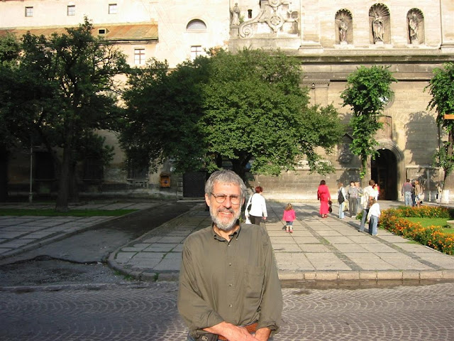 In front of Bernardine Church and Monastery, Lviv, Western Ukraine