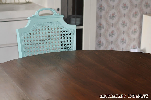 Staining a dining table