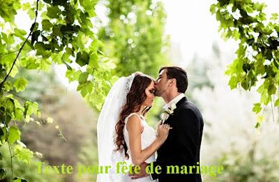 Texte pour fête de mariage