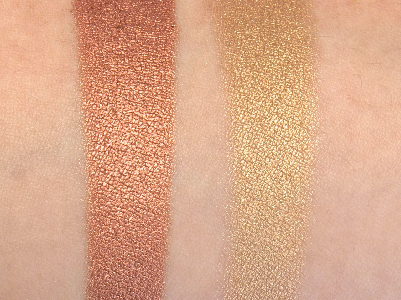 "Total Intensity by Prestige True Metals Eyeshadow in ""03 Copper"" & ""05 Bronze"": Review and Swatches"