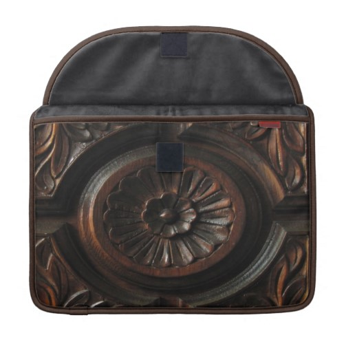 Wooden Carving Macbook Pro Sleeves