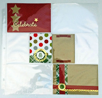 Project Life Page With Instructions on How to Make a Boarder from a Stamoin' Up! Metalic Foil Doily
