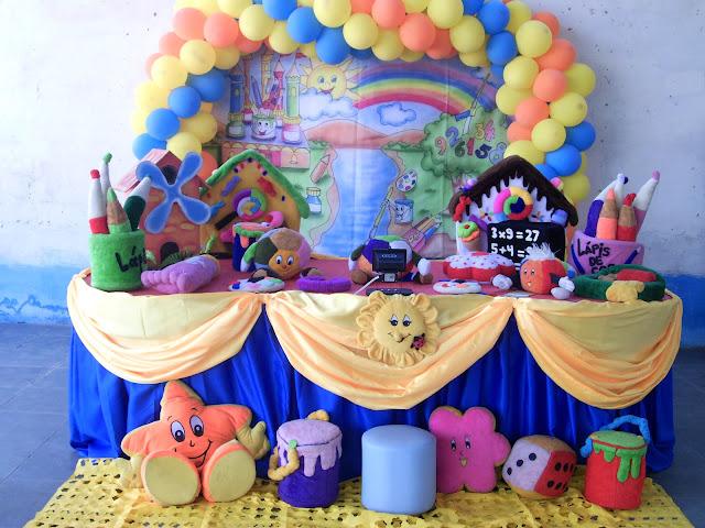 Decoração para festa infantil Pintando o Sete