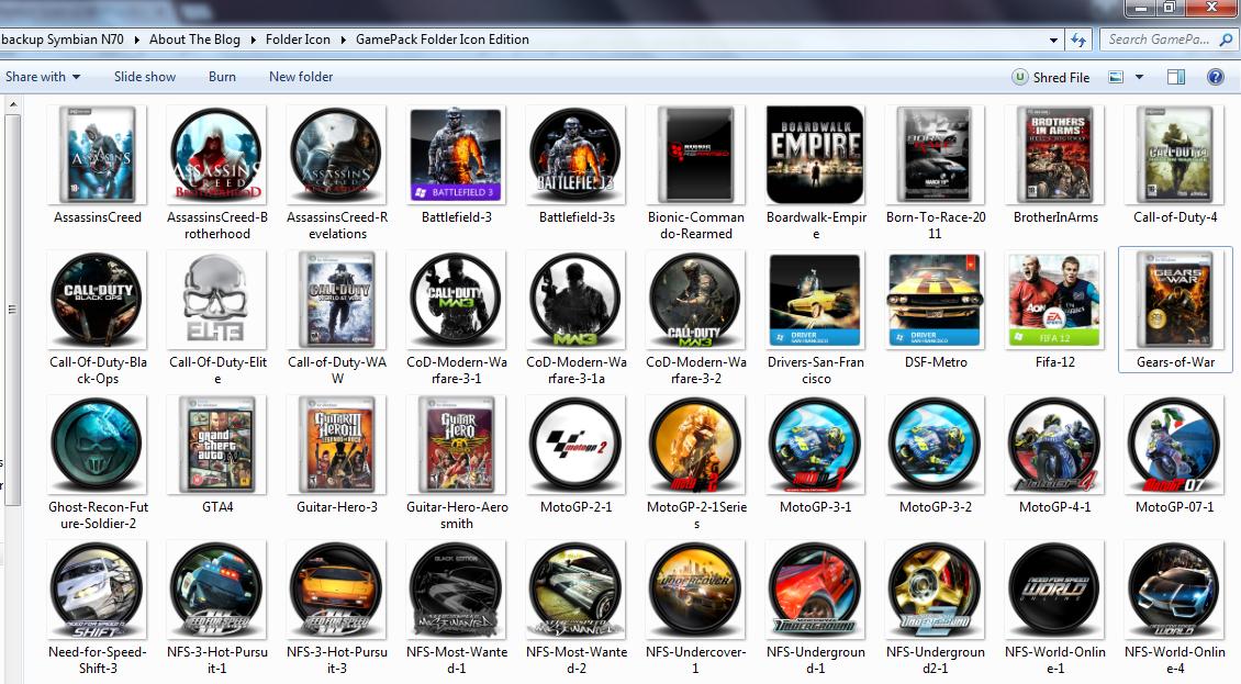 40 Icon Folder Game Keren Untuk PC