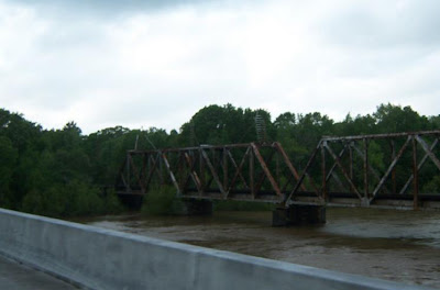 The original Choctawhatchee River Bridge near Newton, Alabama as seen from the new bridge.