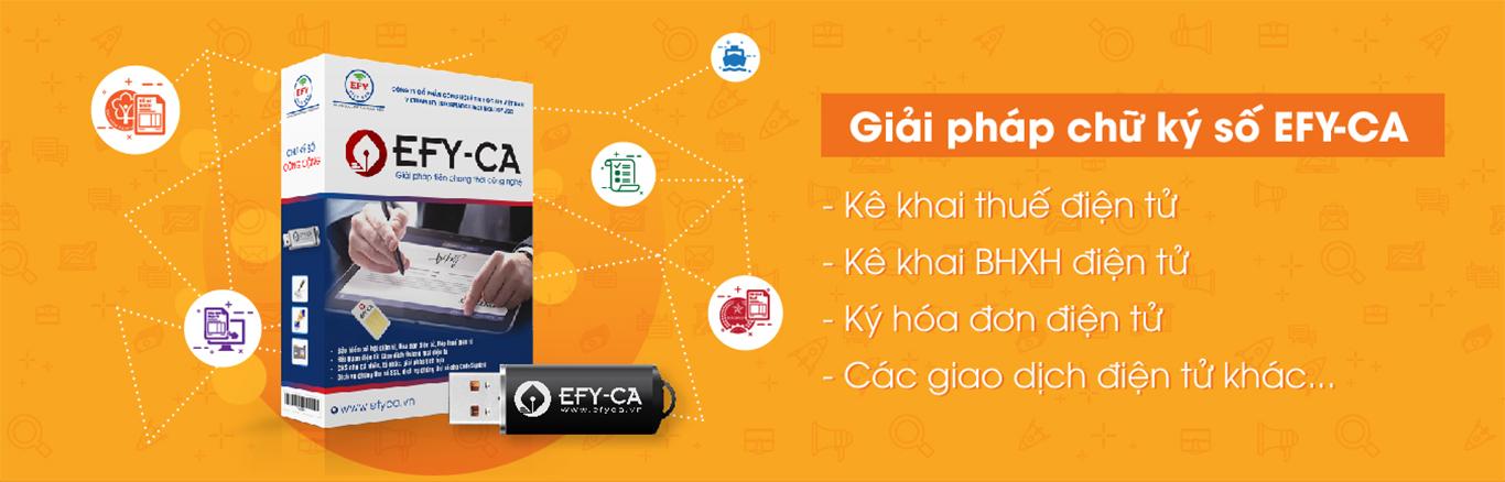 Chữ ký số EFY-CA | Phần mềm bảo hiểm xã hội điện tử EFY - EBHXH