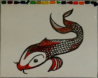 koi drawing
