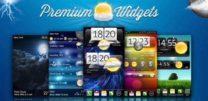 Premium Widgets Weather Aplicativo Mundo Android