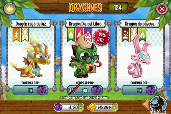 imagen de la oferta del dragon dia del libro en dragon city ios y android