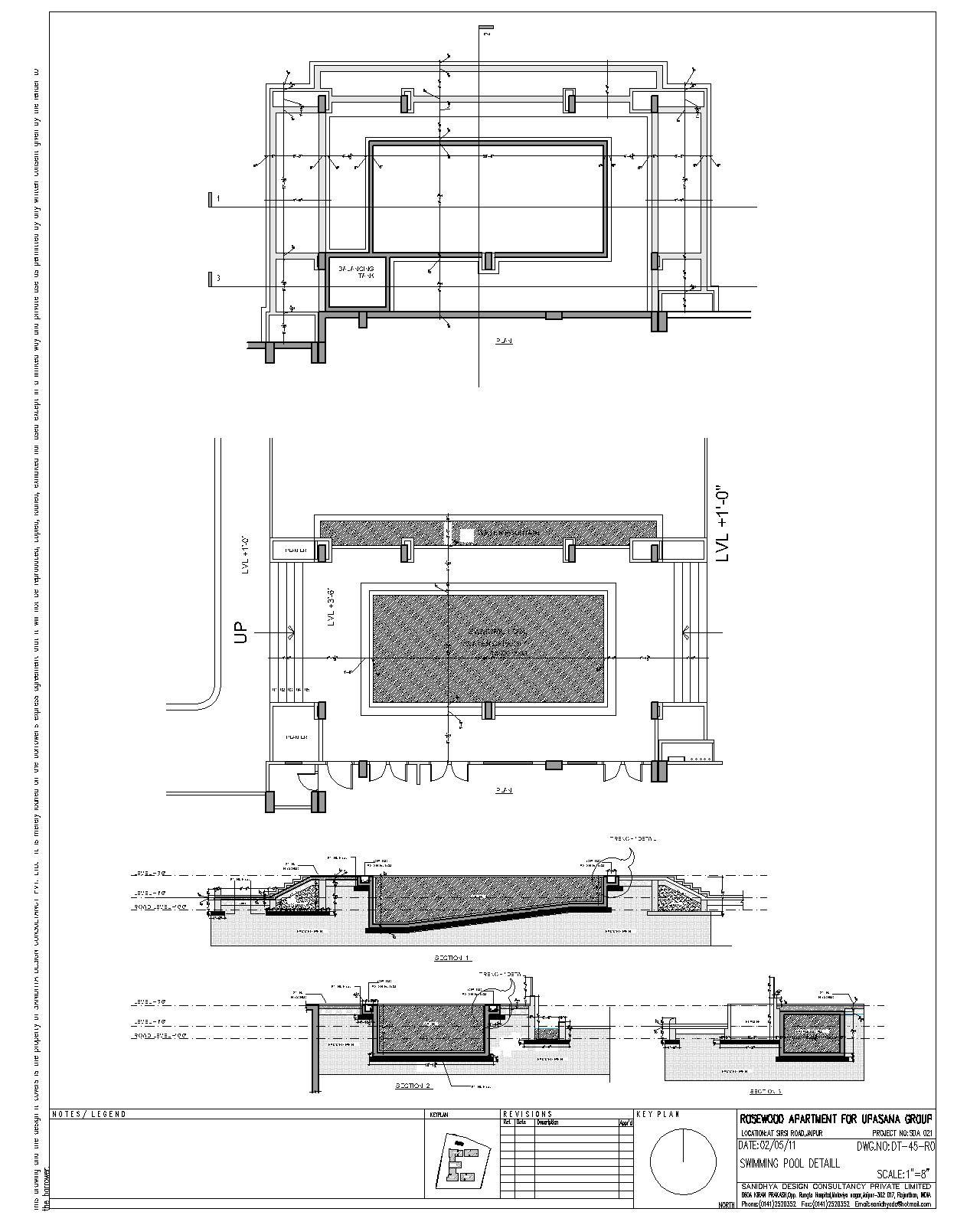 Sanidhya design landscape details for Swimming pool construction details