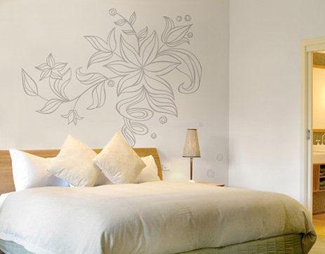 Master Bedroom With Romantic Wall Art
