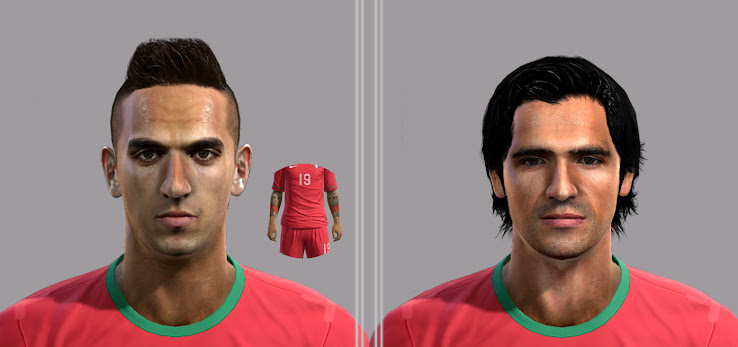 PES 2012 Custodio & Miguel Lopes Faces by CFACF
