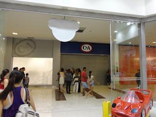 Fachada da C&A no Cariri Shopping.