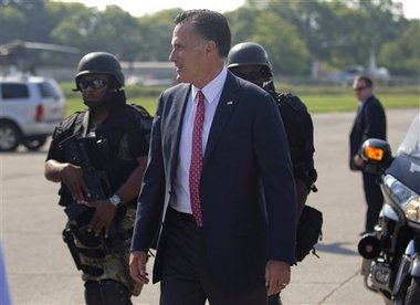Mitt Romney spoke to supporters at a motorcycle dealership in Greer, S.C