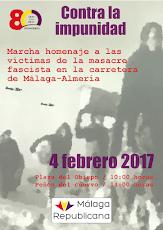 Marcha contra impunidad. 80 Aº de la huida de la carretera a Almería