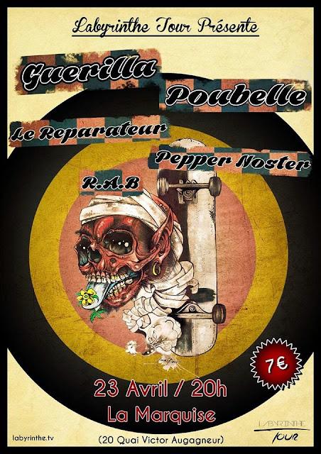 Guerilla Poubelle Le Reparateur Lyon Punk Rock
