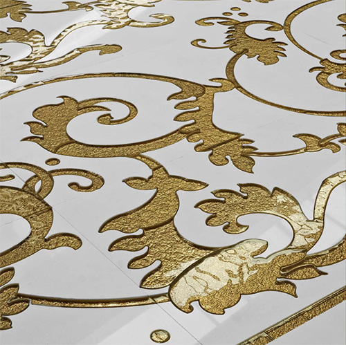 Gold Accent Tile by Cottoveneto