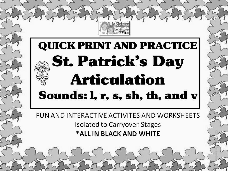 Twin Speech Language Literacy LLC Articulation – R Articulation Worksheets