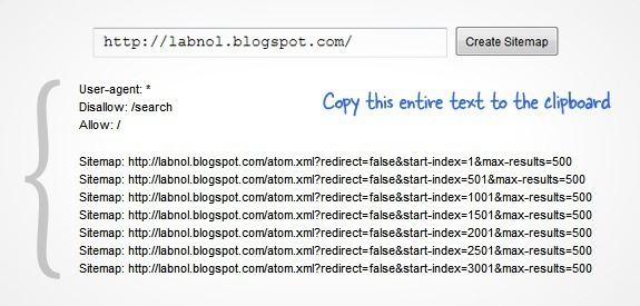 Tạo sitemap cho blogspot hỗ trợ seo