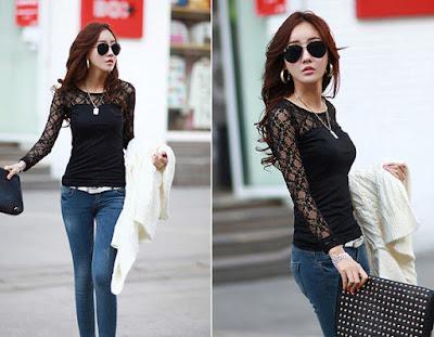 Baju Casual Korea Wanita Online Bahan Katun