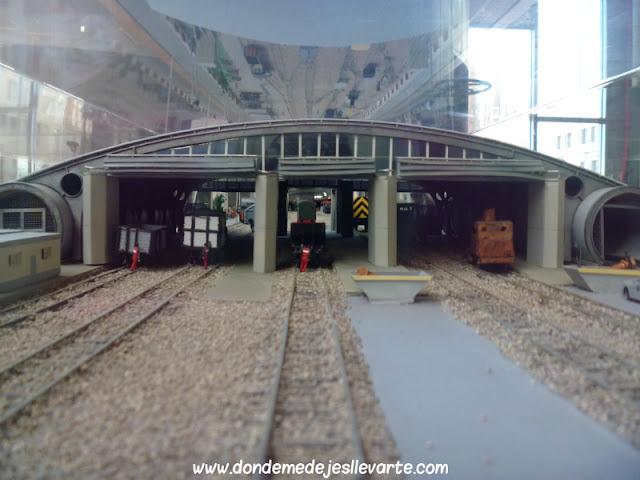 Maqueta del Museo del Ferrocarril de Gijón
