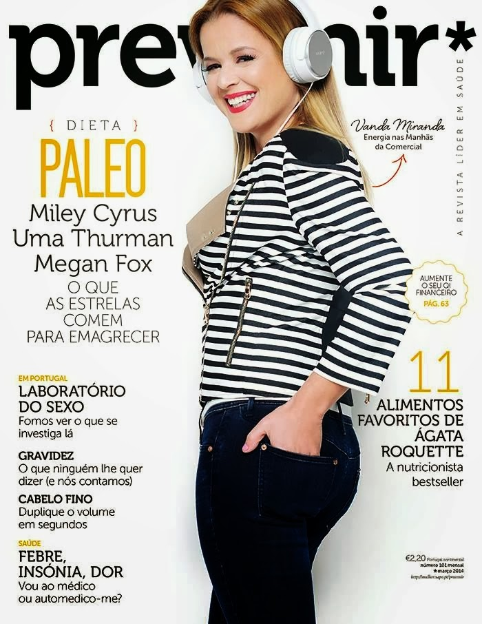 Vanda Miranda Photos from Prevenir Portugal Magazine Cover March 2014 HQ Scans