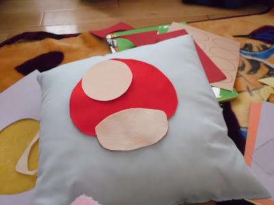 how to make super mario mushroom pillow