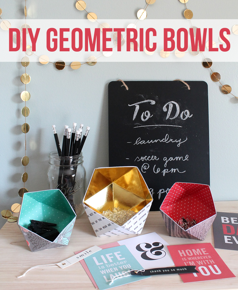 The craft patch diy geometric bowls for Diy projects to do with friends