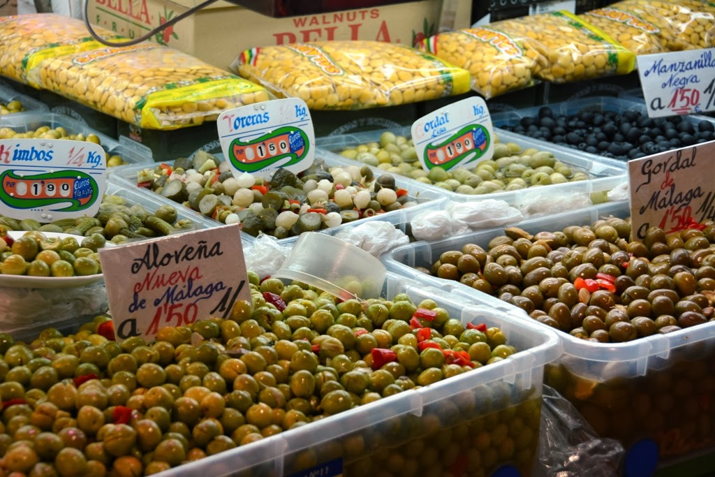 Mercado Central de Atarazanas Malaga olives