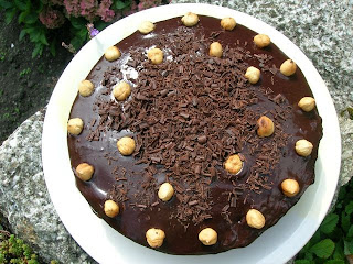 Hazelnut Apple Chocolate Cake