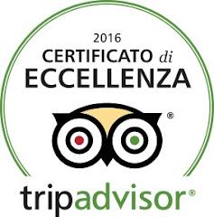 Certificato di eccellenza 2016 Tripadvisor