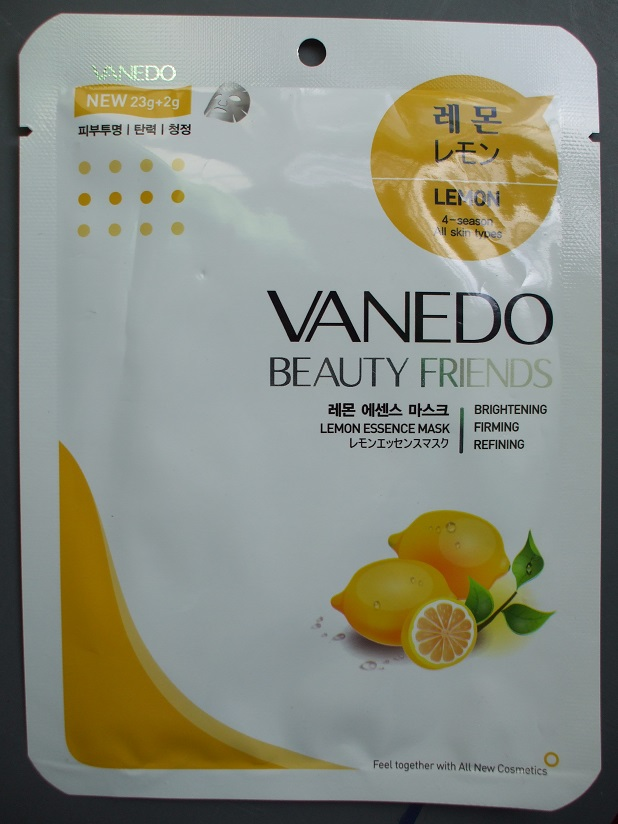 Vanedo Beauty Friends Sheet Mask lemon