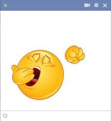emoticon Facebook menguap