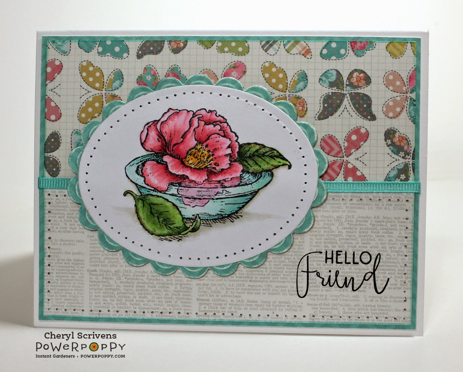 Power Poppy, Simply Camellias, CherylQuilts, Designed by Cheryl Scrivens