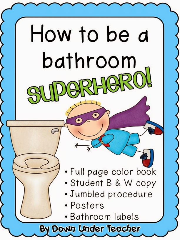 http://www.teacherspayteachers.com/Product/Be-a-Bathroom-Superhero-Teaching-bathroom-rules-and-procedures-819323
