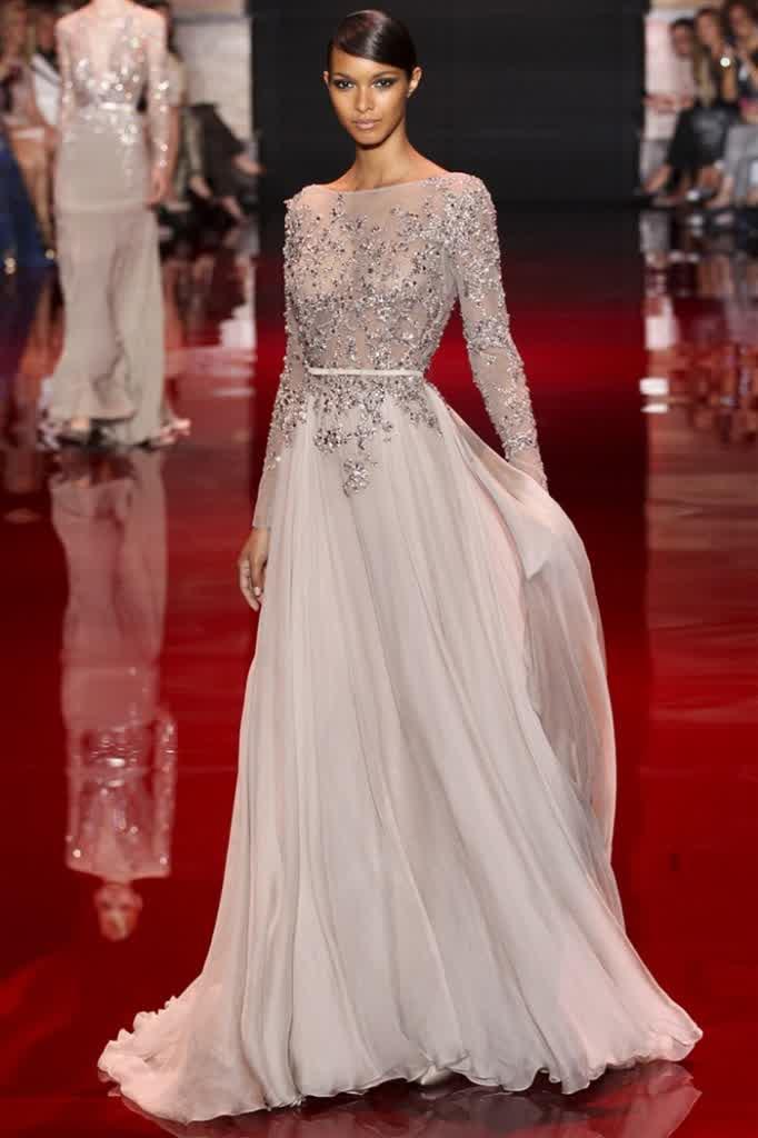 Prom Dresses Formal Long Sleeves Bridal Wedding Fashion