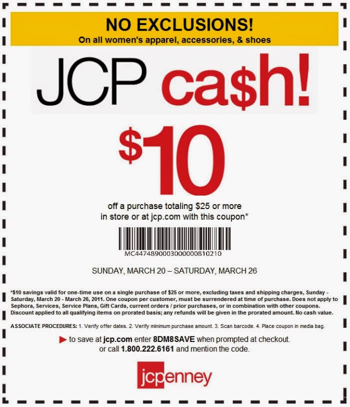 6. Redeem huge savings from JCPenney promo codes and coupons by stacking up to 10 in a single order. This option applies to online and in-store shopping. 7. In the spring, summer and winter, the Friends & Family Sales release discounts up to 25% off select products. Bonus markdowns are given to cardholders in the same events. 8.