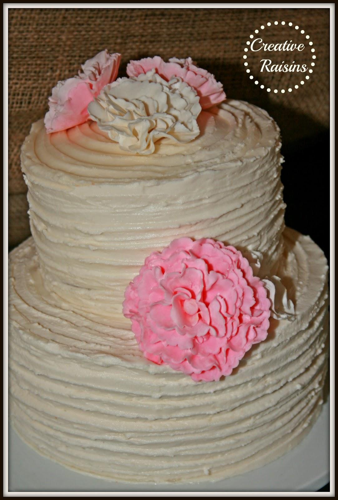creative raisins shabby chic wedding cake
